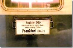 Frankfurt - Frankfurt train