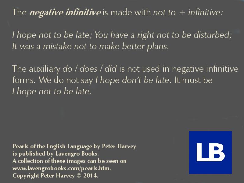 198 negative infinitive