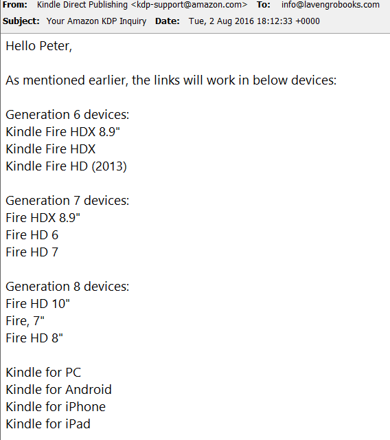 Dealing with Kindle Direct Publishing - Lavengro
